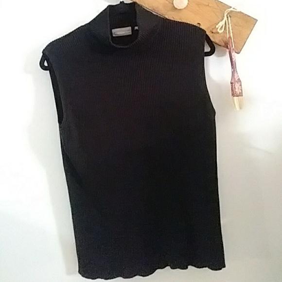 9e26638c7f2d2 croft   barrow Sweaters - Vintage Sleeveless black Turtle Neck Sweater